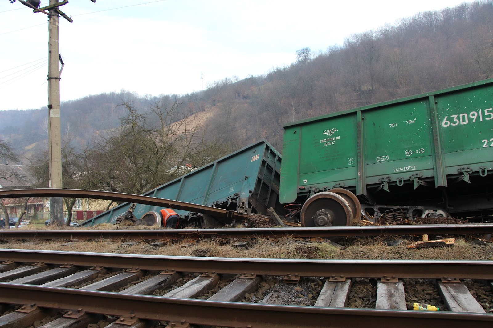 аварія, вантажний потяг, с. Сіль