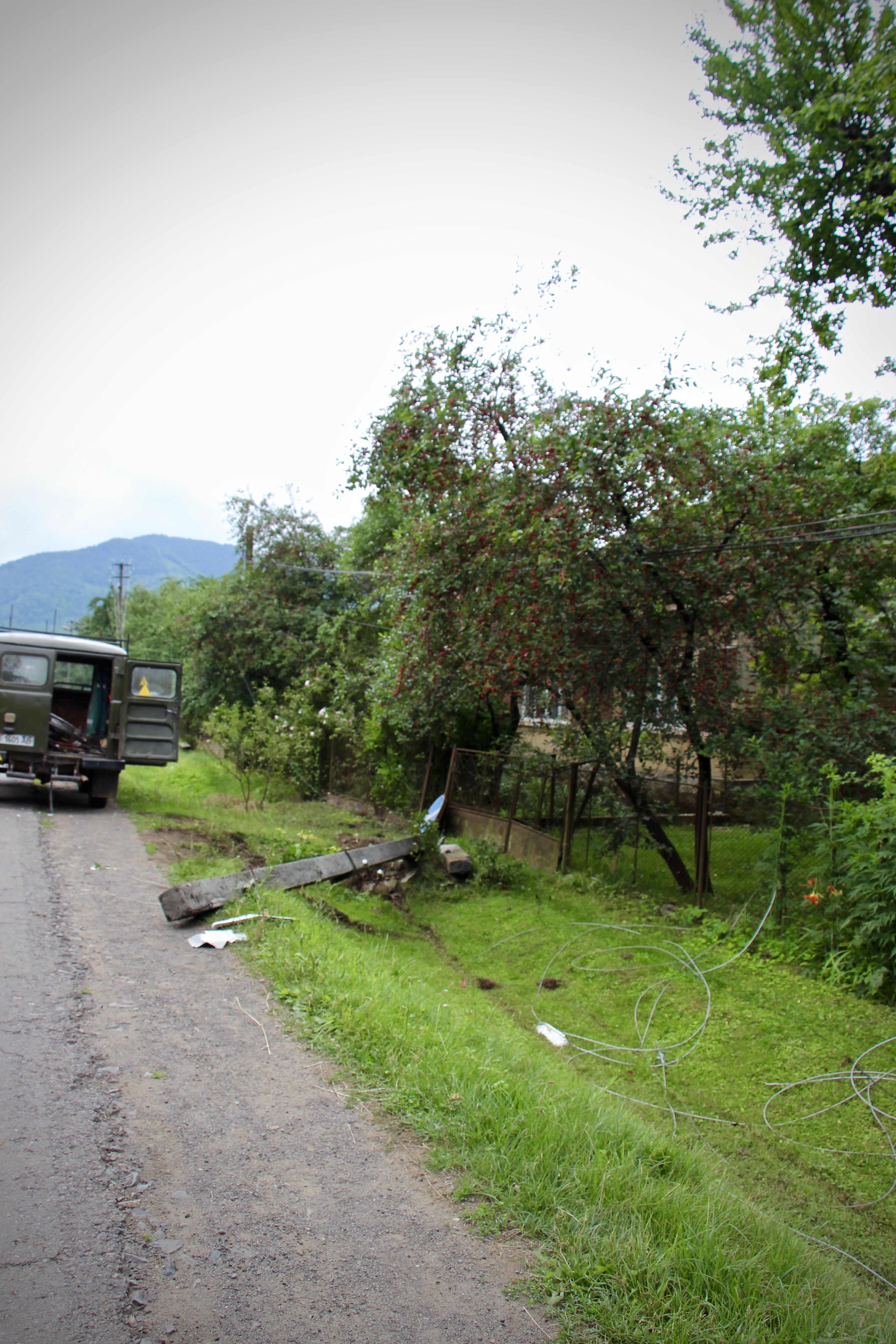 Аварія в Кострино: постраждалих немає, пів села без електрики